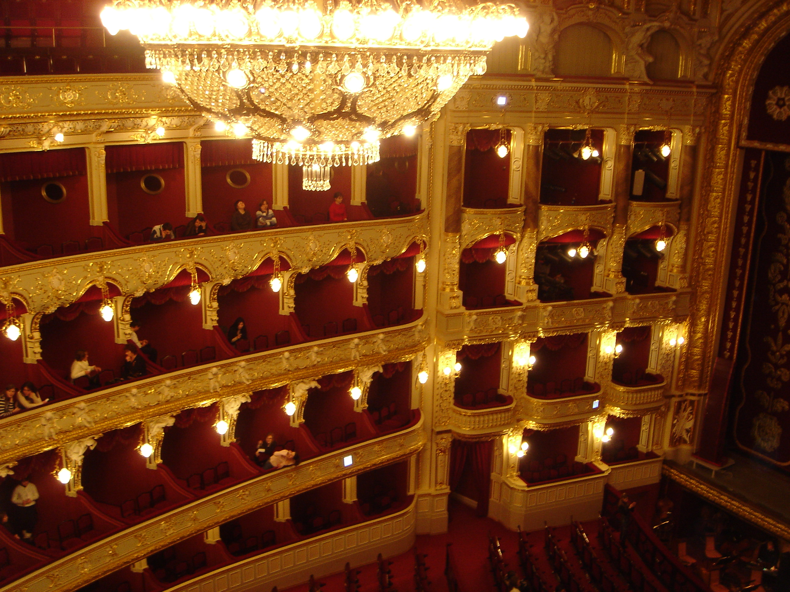 Interior of Odessa opera theater.