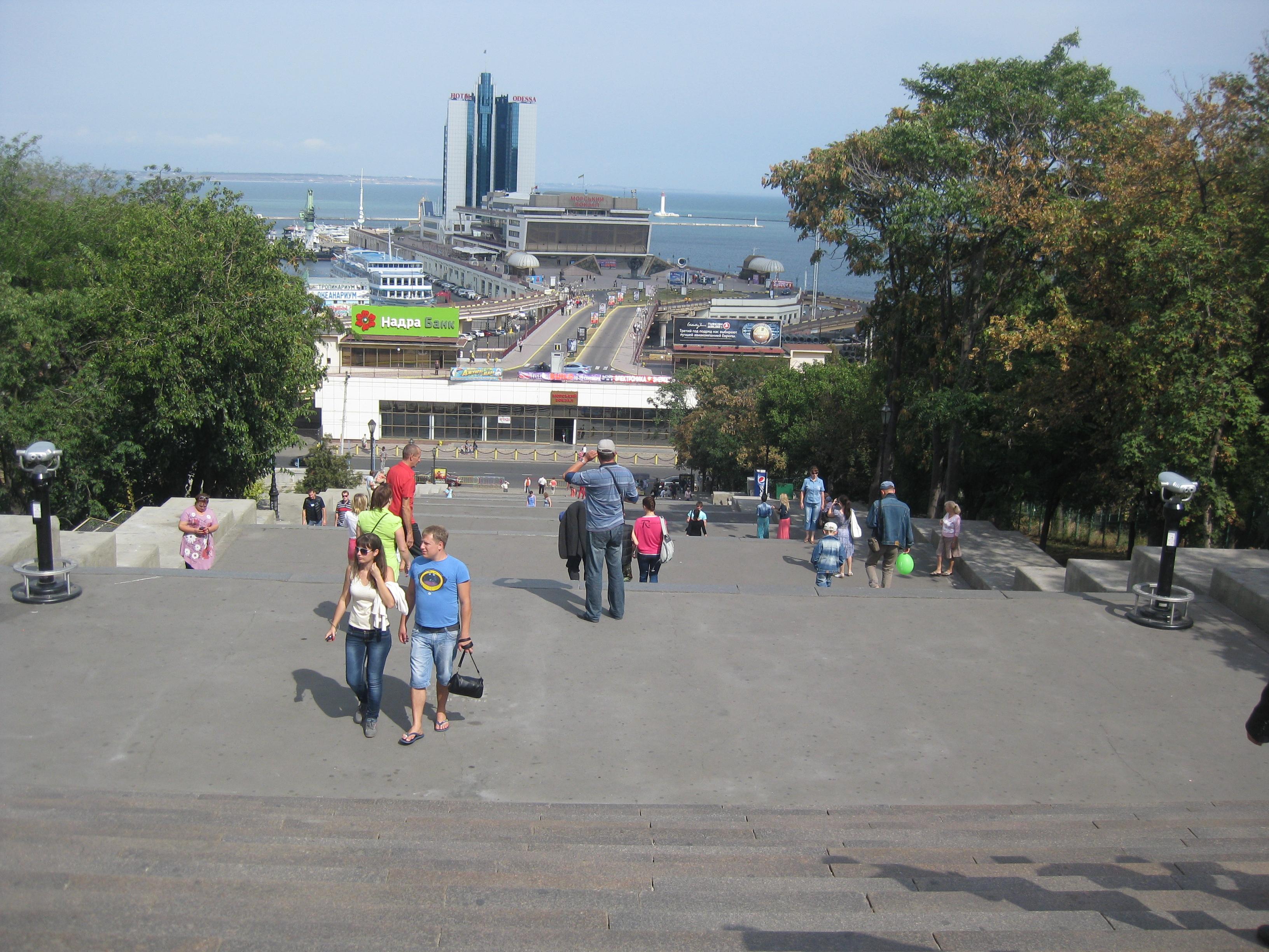 Потёмкинская лестница в Одессе.